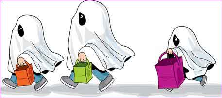 Bambini travestiti da fantasmi
