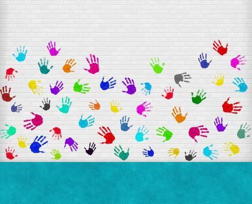 giochi di bambini e colori - asili nido