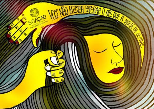 Il manifesto di una campagna contro la violenza di genere