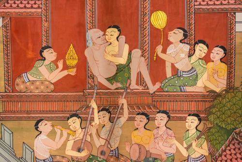 Antica pittura muraria thailandese