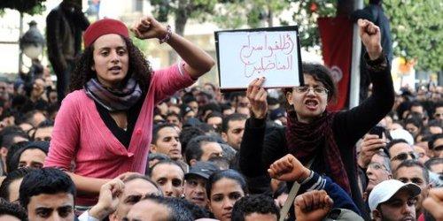 Il 14 gennaio 2011 a Tunisi